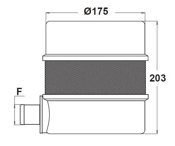 38983 - Фильтр Geoline заборный плавучий